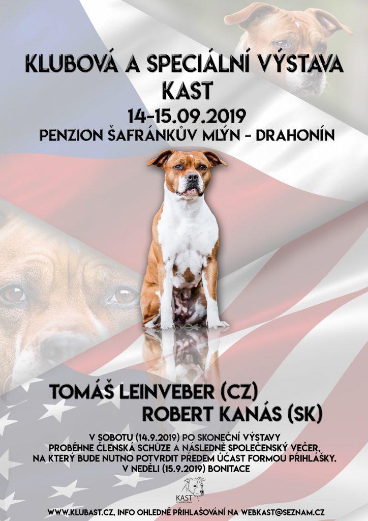 Klubová (bez KV) aSpeciální výstava KAST – 14.-15.9.2019